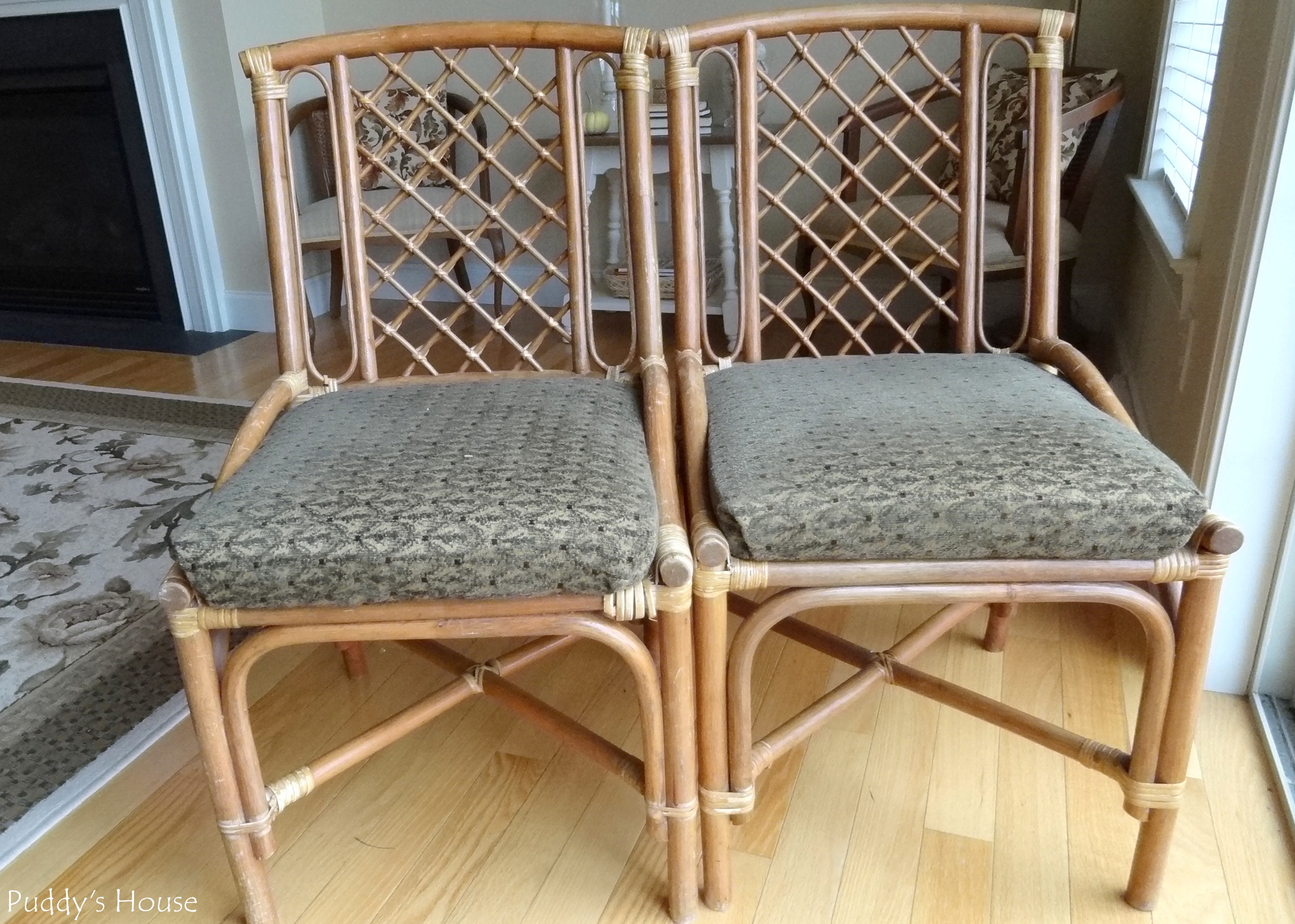 Bamboo Chairs – Before and After – Puddy s House