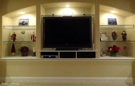 Christmas - Basement Entertainment Center Shelves