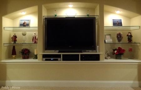 Christmas - Basement Entertainment Center Shelves