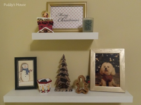 Christmas - Craft Room Shelves
