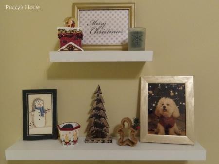 Christmas - Craft Room Shelves