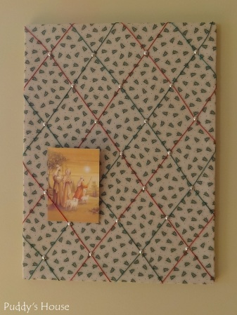 Christmas -DIY Cork Board into Card Holder