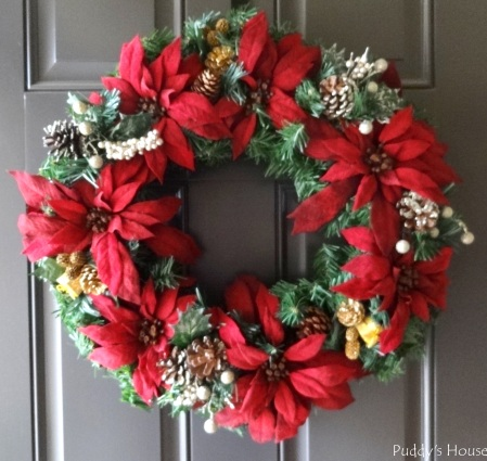 Christmas - DIY Wreath on Door