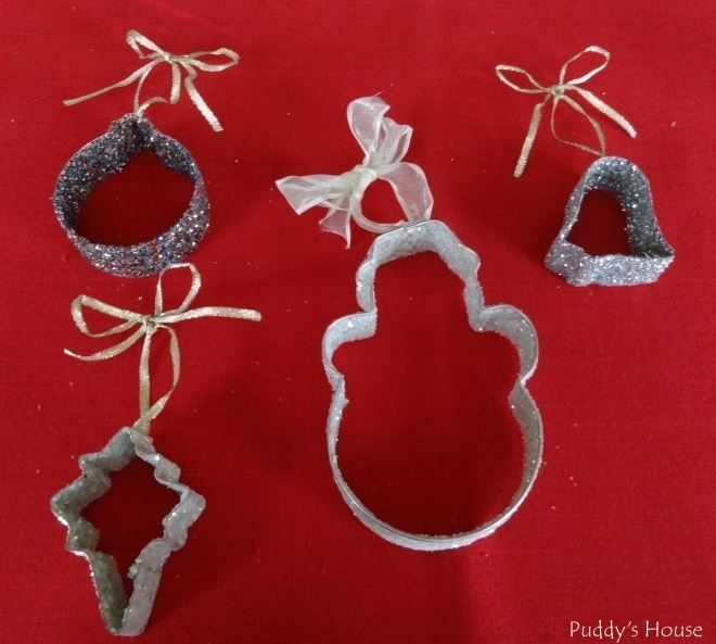 DIY Christmas Ornaments - Glitter Cookie Cutters
