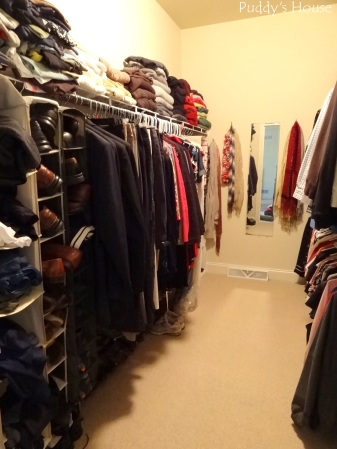 Closet Reorganization - Closet left side after