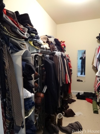 Closet Reorganization - Closet left side before