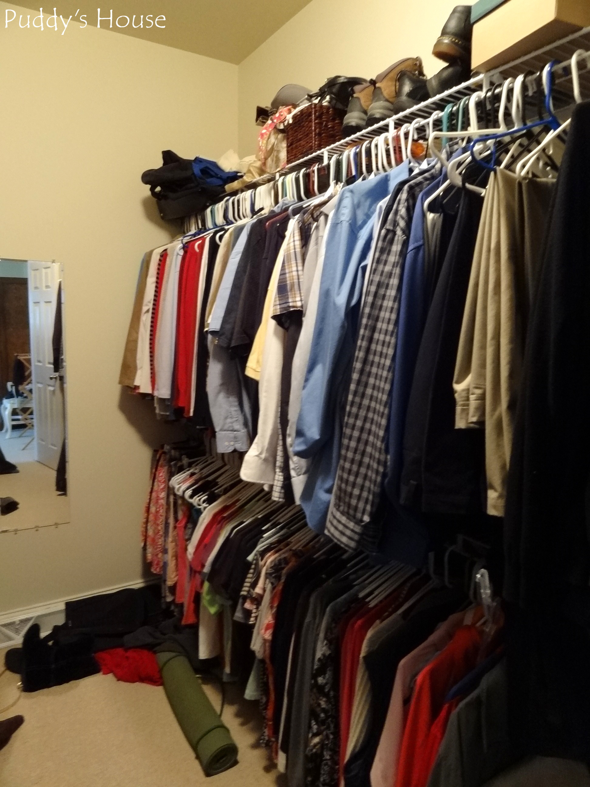 Awesome Closet Reorganization   Closet Right Side Before