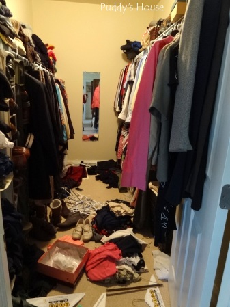 Closet Reorganization - In Process - worse-before-better