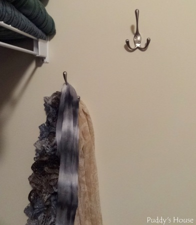 Closet Reorganization - New hooks for scarves