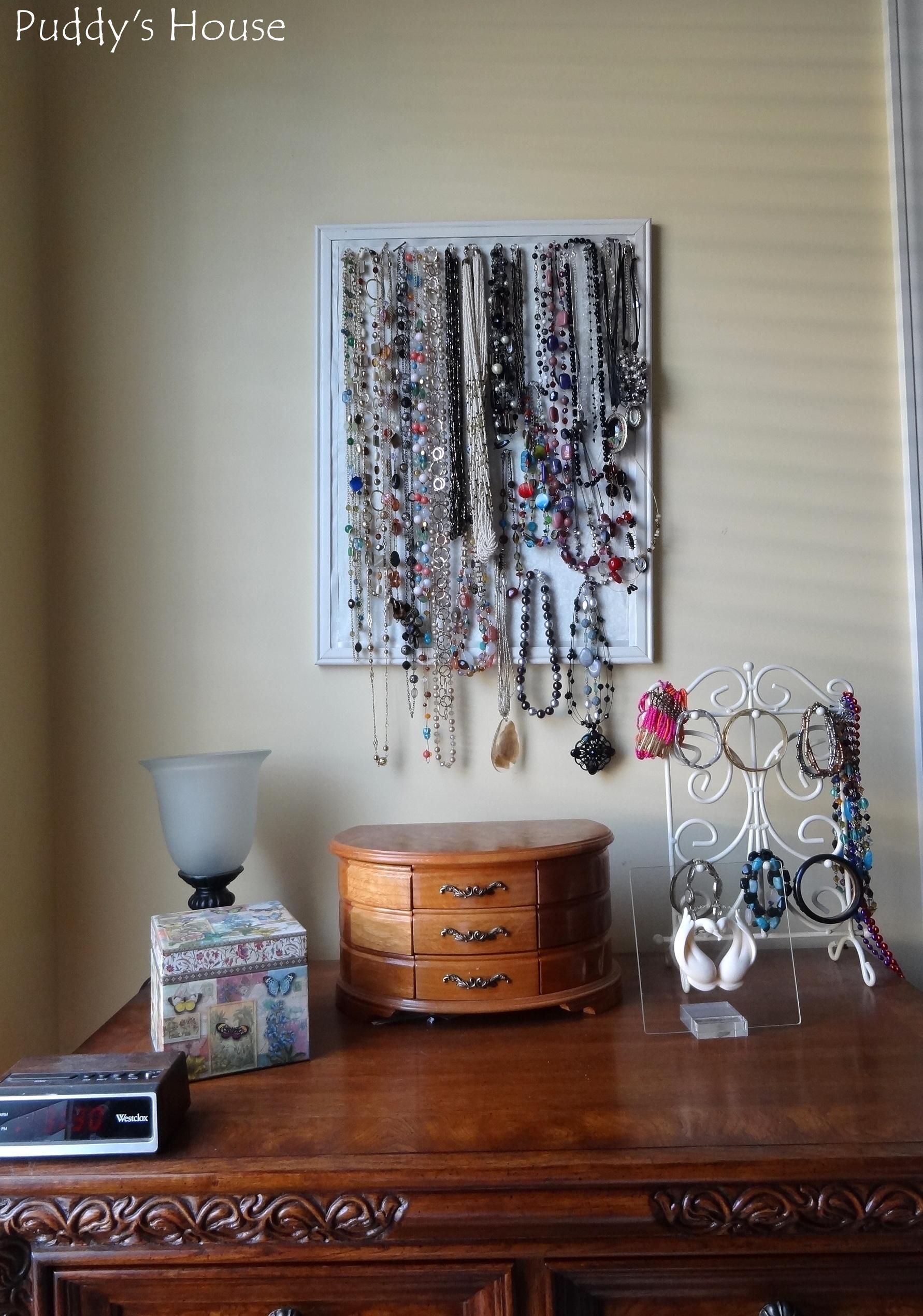 Closet Reorganization   Nightstand Jewelry Before