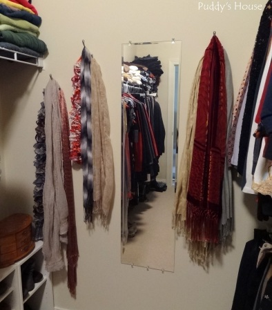 Closet Reorganization - Scarves on display