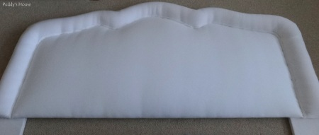DIY Upholstered Headboard - Before