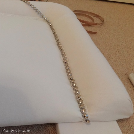 DIY Upholstered Headboard - Starting nailhead trim