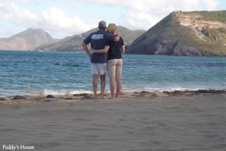 Vacation - St Kitts bob and leslie on beach