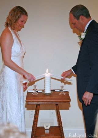 Wedding - Bob Leslie lighting unity candle