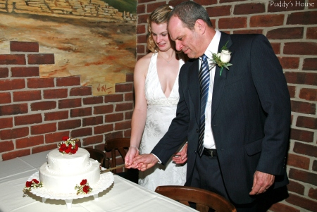 Wedding-cutting the cake