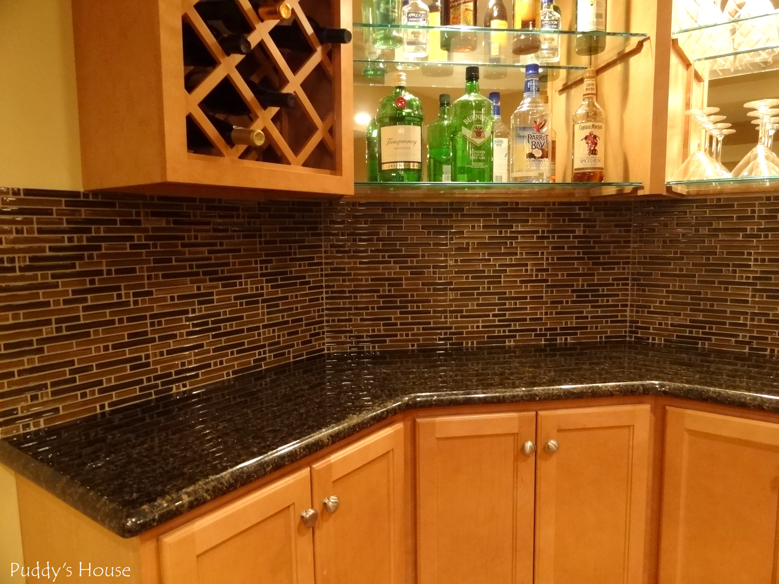 tile meets the counter and we are considering adding a trim piece