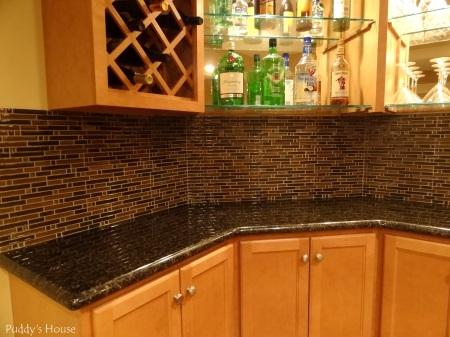 Bar Backsplash - After corner view