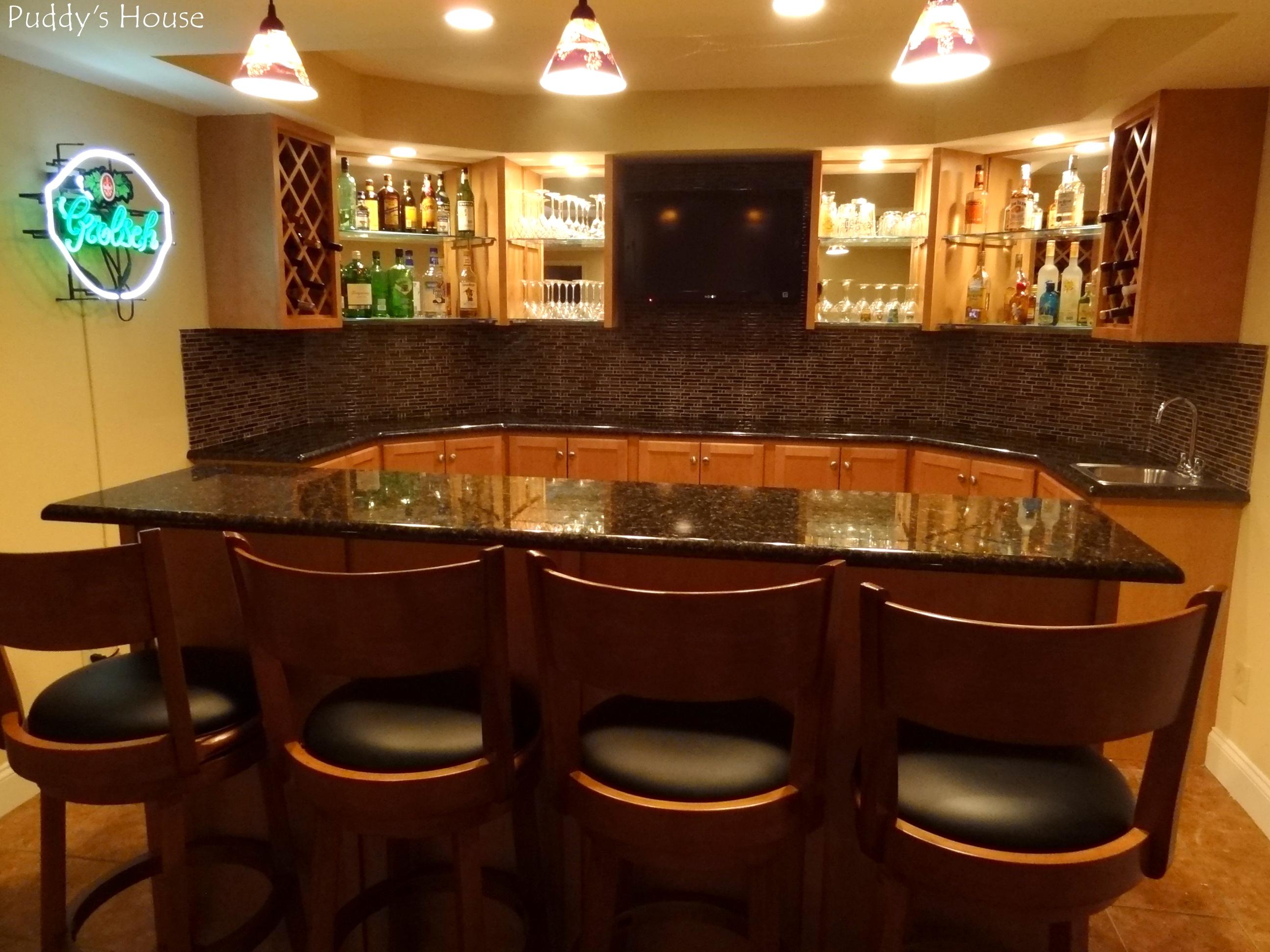 Basement Bar DIY Backsplash  Puddys House - Diy basement bars