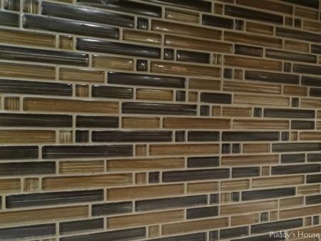 Bar Backsplash - Tile close-up after