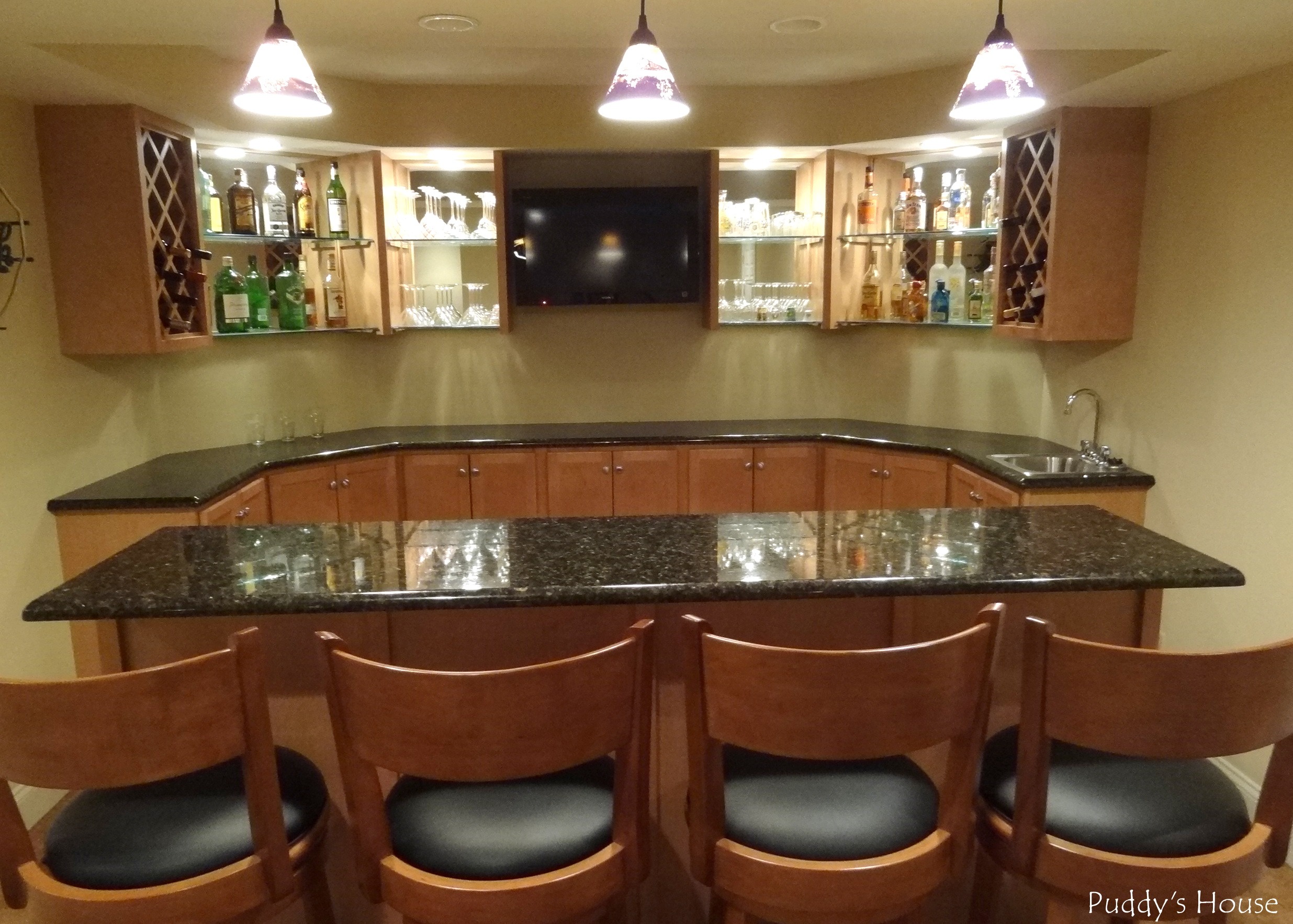 Basement bar diy backsplash puddy 39 s house - Bars for the house ...