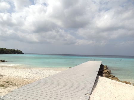 Curacao 2 - Dock and water at Santa Maria Beach