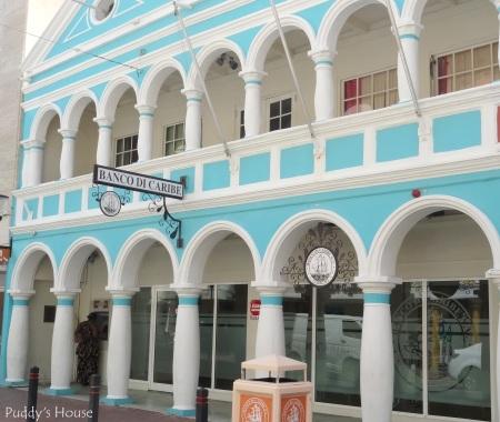 Curacao - Banco di Caribe - blue and white