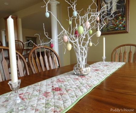 Easter Decorations - Dining Room Centerpiece  Branches with hanging eggs