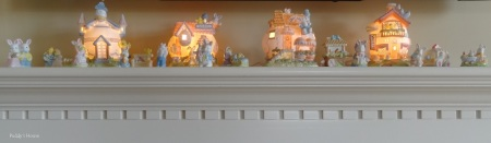 Easter Decorations - Easter Village on Mantle