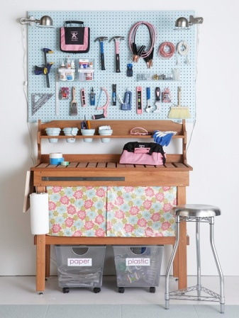 Garage Organization Inspiration - BHG Feminine Potting Table
