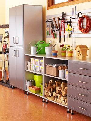 Garage Organization Inspiration - Cabinets and shelves