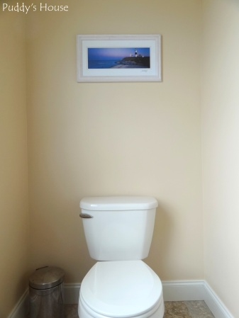 Master Bathroom - toilet area with thrifted art