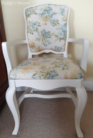Master Bedroom - diy painted and reupholstered side chair