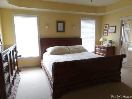Master Bedroom - view from the door - dresser bed nightstand