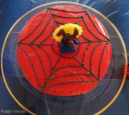 Spiderman Birthday - Cake from above