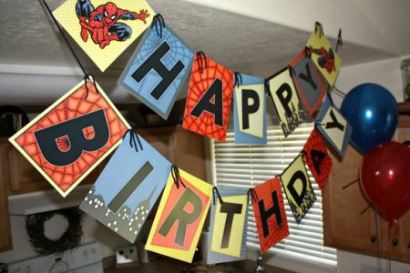 Spiderman Birthday - Pinterest Inspiration Banner