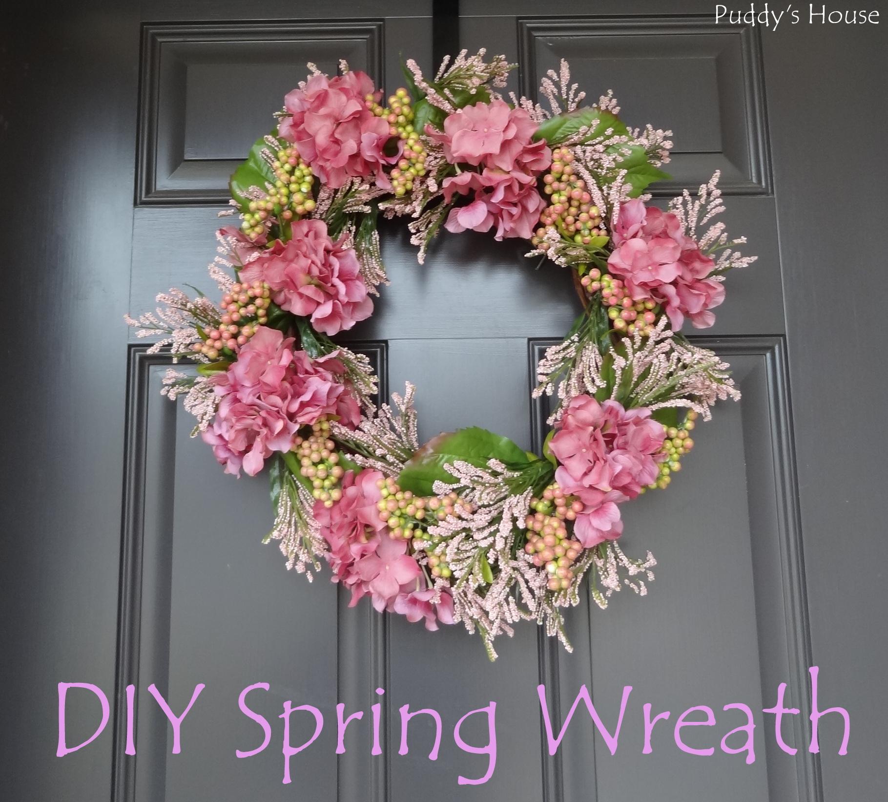 diy spring wreath. Black Bedroom Furniture Sets. Home Design Ideas