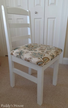 Craft Room - Desk Chair - painted and reupholstered