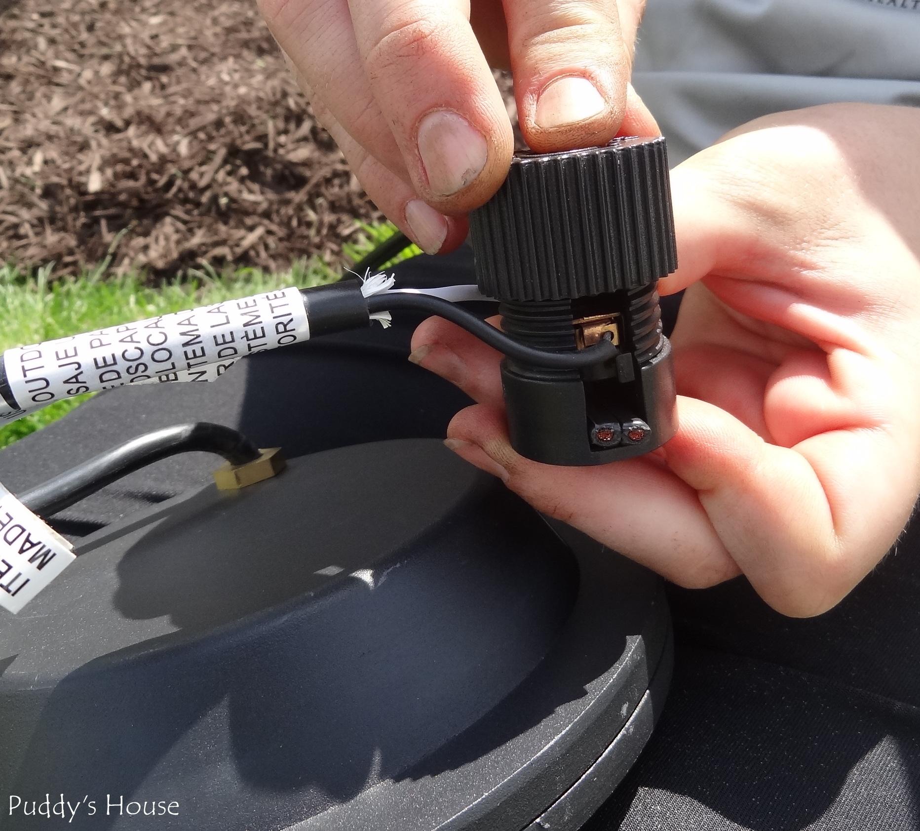 Landscape Lights Connectors : Diy landscape light cable to connector