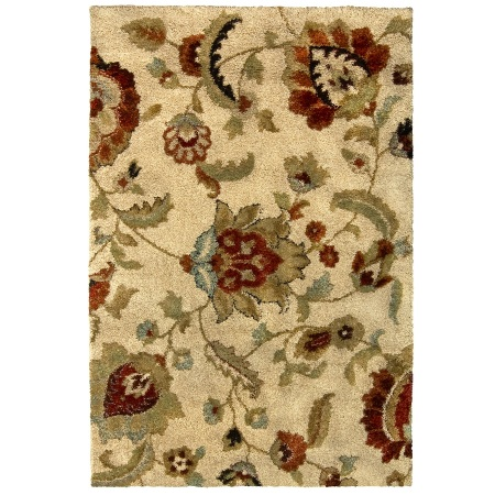 Rugs - Lowes Allen + Roth Rectangularg Beige Floral Area Rug
