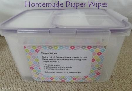 Diaper Wipes - Homemade Diaper Wipes