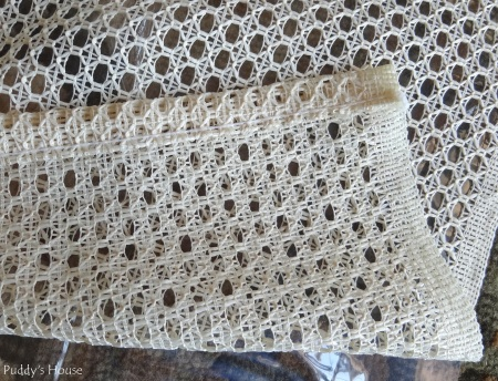 DIY Shower Curtain - Curtain seam before
