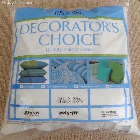 Envelope Pillows - 16 x 16 Pillow form