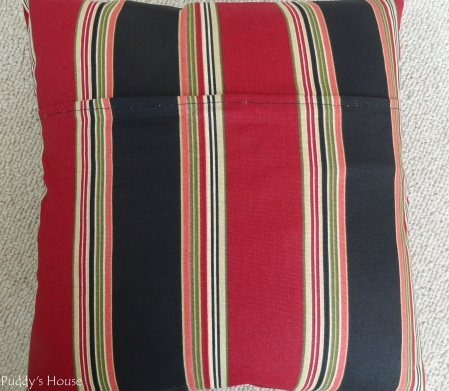 Envelope Pillows - After back seam