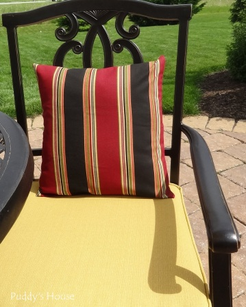 Envelope Pillows - After on patio chair