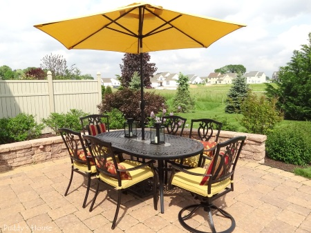 Patio - New table chairs and umbrella