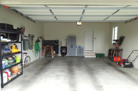 Garage - after full garage organized