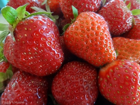 Strawberries up close