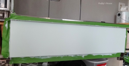 Kitchen Cabinets - painted front under stove top
