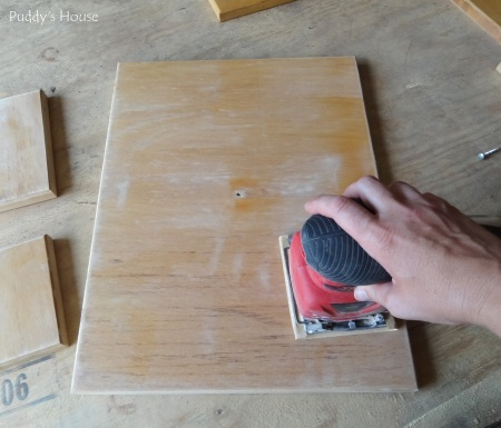 Kitchen Cabinets - Sanding
